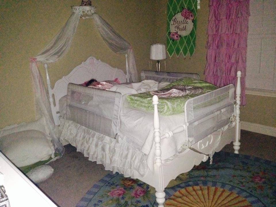 Photo I took of Brielle on her first night in her big girl bed.