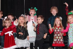 Brielle and her class performing.