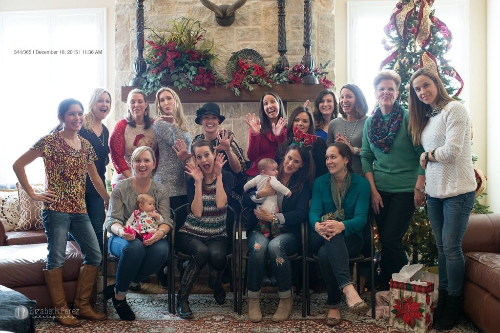 """Bible study ladies doing our """"funny poses"""" for a quick photo by Elizaebth Perez during our Christmas brunch and final meeting for the fall semester. We were missing a number of ladies that morning- as December is a busy time of year."""