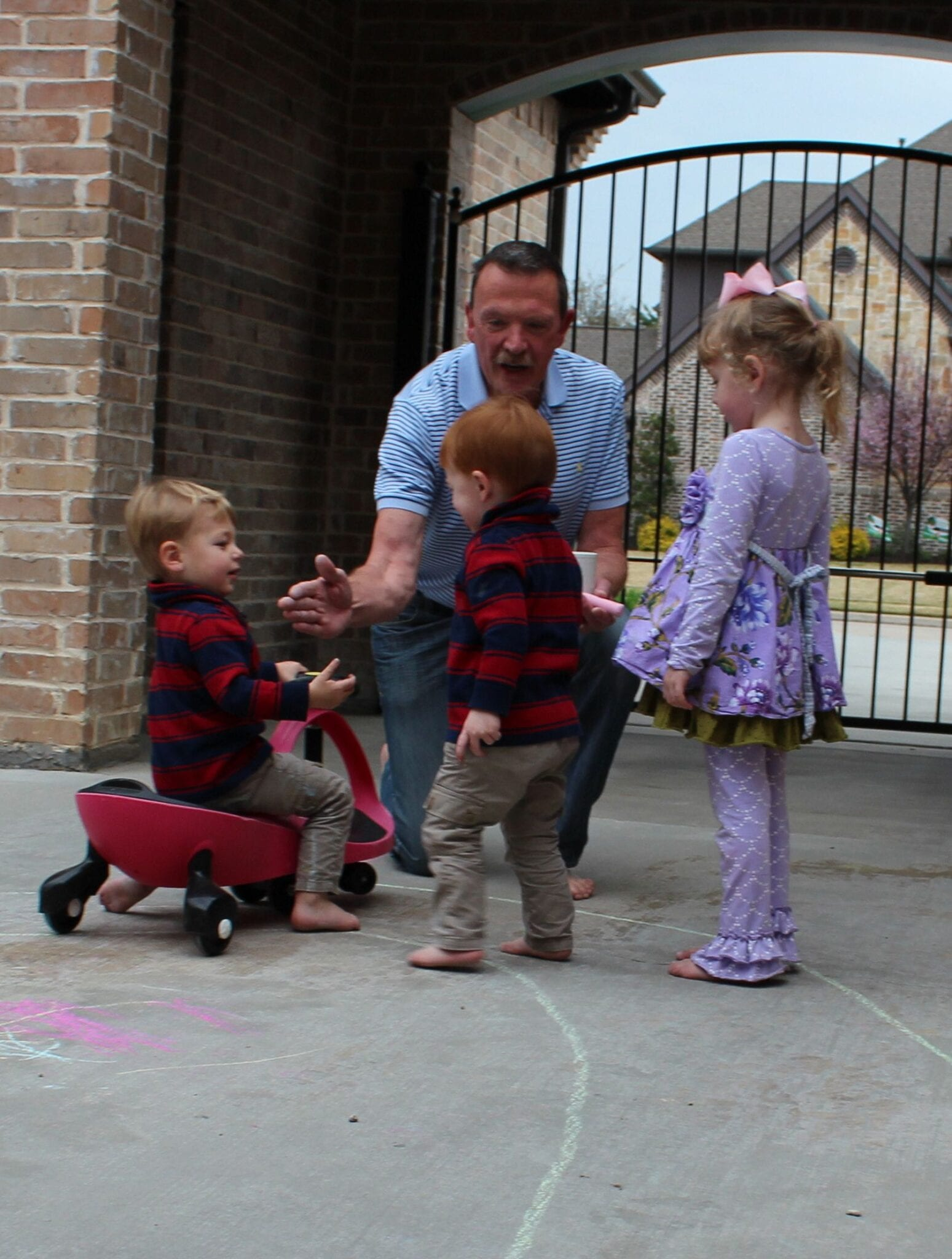 My Dad Came to Visit- He Taught the Kids to Follow the Road!