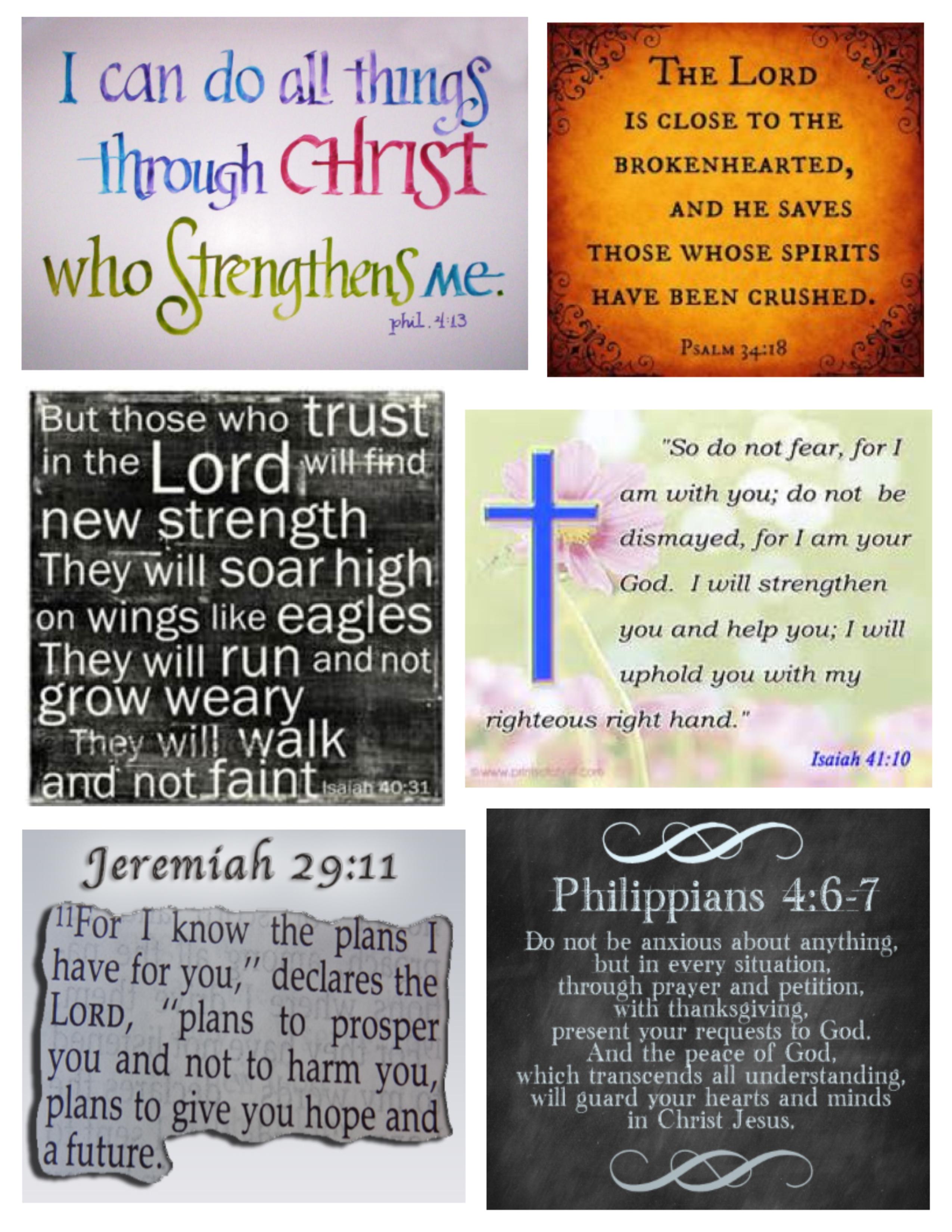 Verses To Get Us Through